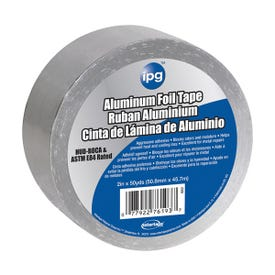IPG 9202-B Foil Tape with Liner, 50 yd L, 2 in W, 1-3/4 mil Thick