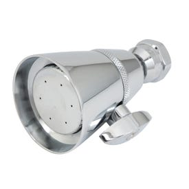 Whedon Elite FP4C Shower Head, 2.5 gpm, 1/2 in Connection, Female, Brass, Chrome, 3 in Dia