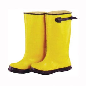 Diamondback Simple Spaces RB001-14-C Over Shoe Boots, 14, C W, Yellow, Rubber Upper