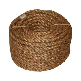 T.W. Evans Cordage 26-003 Rope, 1/2 in Dia, 50 ft L, 360 lb Working Load, Manila, Natural