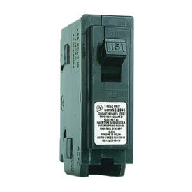 Square D Homeline HOM115CP Circuit Breaker, Miniature, 15 A, 1-Pole, 120 V, Fixed Trip, Plug-In Mounting, Black