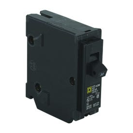Square D Homeline HOM130CP Circuit Breaker, Miniature, 30 A, 1-Pole, 120 V, Fixed Trip, Plug-In Mounting, Black