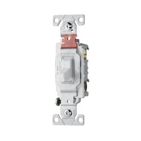 Eaton Wiring Devices CS220W Switch, 20 A, 120/277 V, Lead Wire Terminal, Nylon Housing Material, White