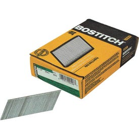 Bostitch FN1524 Finish Nail, 1-1/2 in L, 15 Gauge, Galvanized Steel, Coated, Round Head, Smooth Shank