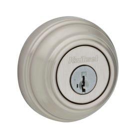 Kwikset Signature 98515SMTCP Deadbolt, 1 Grade, Keyed Alike Key, Steel, Satin Nickel, 2-3/8 x 2-3/4 in Backset