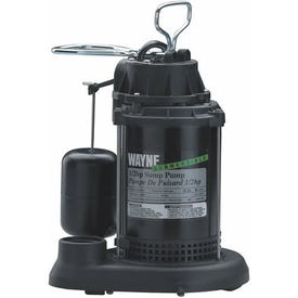 WAYNE SPF50 Sump Pump, 1-Phase, 10 A, 120 V, 0.5 hp, 1-1/2 in Outlet, 20 ft Max Head, 4300 gph, Thermoplastic