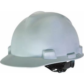 SAFETY WORKS SWX00344 Hard Hat, 4-Point Textile Suspension, HDPE Shell, White, Class: E