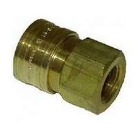 Mi-T-M AW-0017-0004 Quick-Connect Adapter, 3/8 x 3/8 in Connection, Socket x FNPT, Brass