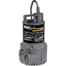 WAYNE RUP160 Utility Pump, 1-Phase, 2.5 A, 120 V, 0.166 hp, 1-1/4 in Outlet, 3100 gph, Thermoplastic Impeller