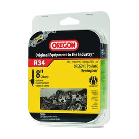 Oregon R34 Chainsaw Chain, 8 in L Bar, 0.043 Gauge, 3/8 in TPI/Pitch, 34 -Link