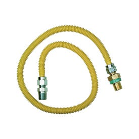 BrassCraft ProCoat CSSD44R-24P Gas Connector, 1/2 in Inlet, 1/2 in Outlet, 24 in L