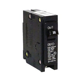 Cutler-Hammer BR130 Circuit Breaker, Miniature, Type BR, 30 A, 1-Pole, 120/240 V, Thermal Magnetic Trip