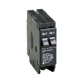 Cutler-Hammer BD1515 Circuit Breaker with Rejection Tab, Duplex, 15 A, 1-Pole, 120 V, Instantaneous Trip