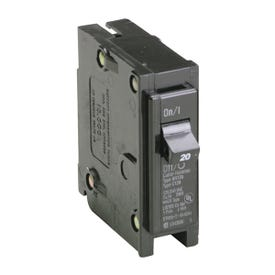 Cutler-Hammer BR120 Circuit Breaker, Miniature, Type BR, 20 A, 1-Pole, 120/240 V, Thermal Magnetic Trip
