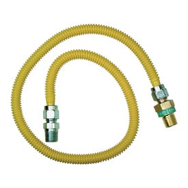 BrassCraft ProCoat CSSD44R-60P Gas Connector, 1/2 in Inlet, 1/2 in Outlet, 60 in L