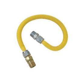 BrassCraft ProCoat CSSC44R-24 P Gas Connector, 1/2 in Inlet, 1/2 in Outlet, 24 in L