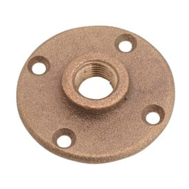 Anderson Metals 738151-08 Floor Flange, 1/2 in, 4-Bolt Hole, Red Brass