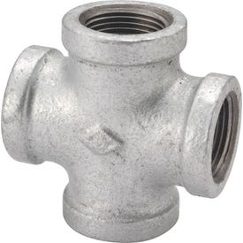 ProSource PPG180-25 Galvanized Pipe Cross, 1 in