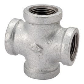 ProSource PPG180-32 Galvanized Pipe Cross, 1-1/4 in