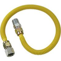 BrassCraft ProCoat CSSD54-36 Gas Connector, 1/2 in Inlet, 1/2 in Outlet, 36 in L