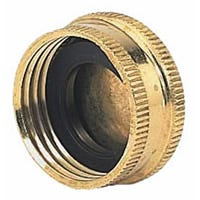 Gilmour 05HCC Hose Cap with Washer Threaded, Threaded, Brass