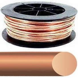 Southwire 4SOLX200BARE Electrical Wire, Solid, 4 AWG Wire, 200 ft L, Copper Conductor