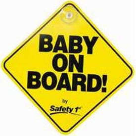 Safety 1st 48918 Safety Sign, Yellow Background, 7-1/2 in L x 5-1/2 in W Dimensions