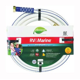 SWAN MRV58025 Water Hose, 5/8 in ID, 25 ft L, White