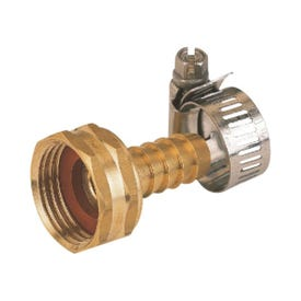 Landscapers Select GB934F3L Hose Coupling, 1/2 in, Female, Brass, Brass