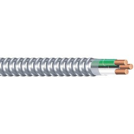 Southwire Armorlite 68580022 Armored Cable, 12 AWG Cable, 2-Conductor, 50 ft L, Copper Conductor, PVC Insulation