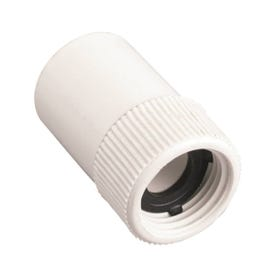 Orbit 53360 Hose to Pipe Adapter, 3/4 x 3/4 in, Slip Joint x FHT, Polyvinyl Chloride, White