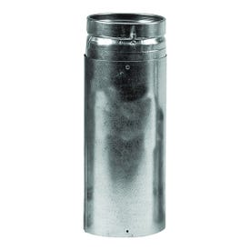 SELKIRK 3VP-24 Vent Pipe, 3 in OD, 2 ft L, Stainless Steel, Galvanized