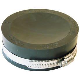 FERNCO QC-104 Pipe Cap, 4 in Connection, PVC