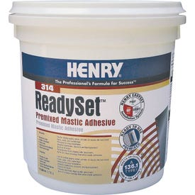 HENRY 12256 Mastic Adhesive, Off-White, 1 gal Container