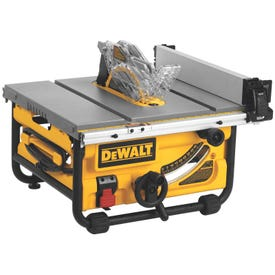 DeWALT DWE7480 Table Saw, 120 VAC, 15 A, 10 in Dia Blade, 5/8 in Arbor, 24 in Rip Capacity Right, 4800 rpm Speed