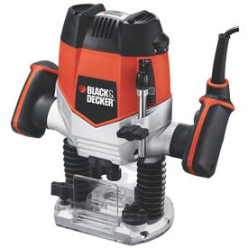Black+Decker RP250 Plunge Router, 10 A, 1/4 in Max Cutter Dia, 8000 to 27,000 rpm No Load