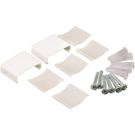 Legrand Wiremold NMW910 Raceway Accessory Pack, Metallic, Plastic, White, For: NM1 Wire Channels