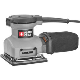 PORTER-CABLE 380 Orbit Finishing Sander, 120 V, 2 A, 4-1/4 x 4-1/2 in Pad/Disc