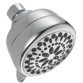 DELTA 75763 Shower Head, 2 gpm, 1/2 in Connection, IPS, ABS, Chrome, 3-3/8 in Dia