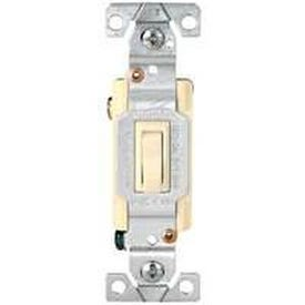 Eaton Wiring Devices 1303-7A Toggle Switch, 15 A, 120 V, Polycarbonate Housing Material, Almond