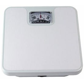 Taylor 20004014EXP Bathroom Scale, 300 lb Capacity, Analog Display, Steel Housing Material, White, 10-1/2 in OAW