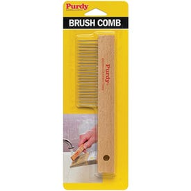 Purdy 144068010 Brush Comb, Wood Handle, Secure Handle