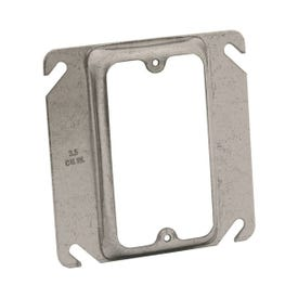 RACO 8772 Electrical Box Cover, 4 in L, 4 in W, Square, Galvanized Steel