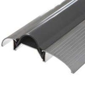 Frost King ST26A Vinyl Top Threshold, 36 in L, 3 in W, Aluminum, Silver