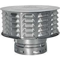 AmeriVent 3ECW Snap Lock Vent Cap, 3 in Connection