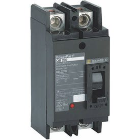 Square D QBL22200 Circuit Breaker, Type QBL, 200 A, 2-Pole, 240 V, Thermal Magnetic Trip, Plug-In Mounting