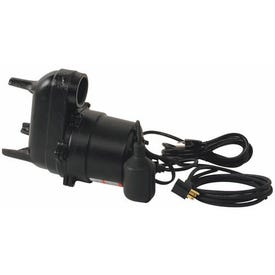 Flotec FPSE3601A-04 Sewage Pump, 13 A, 115 V, 0.5 hp, 2 in Outlet, 18 ft Max Head, 9000 gph, Iron