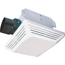 Air King ASLC50 Exhaust Fan, 1.6 A, 120 V, 50 cfm Air, 3 Sones, CFL, Fluorescent Lamp, 4 in Duct, White