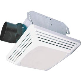 Air King ASLC Series ASLC70 Exhaust Fan with Light, 1.6 A, 120 V, 70 cfm Air, 4 sones, 4 in Duct, White