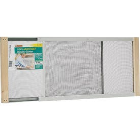 Frost King W.B. Marvin AWS1033 Window Screen, 10 in L, 19 to 33 in W, Aluminum